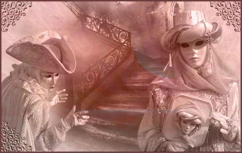 Carnaval de Venise. dans LES MASQUES. 090303050910506443251904
