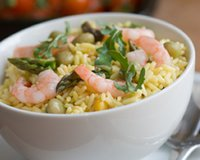 Salade de riz, crevettes, feta, olives vertes. dans CUISINE RAPIDE DE CLAIRE. 2f2549fa-ce7b-412e-baab-ce0c88c07c83