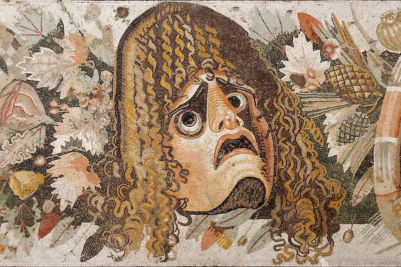 Le masque. dans LES MASQUES. 800px-theatre_mask_mosaic_man_napoli_inv9994