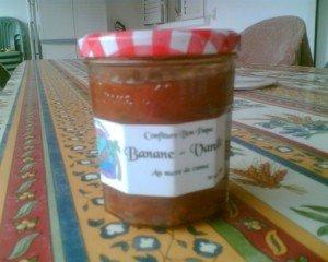 MARMELADE DE BANANES. dans CUISINE RAPIDE DE CLAIRE. confiture-de-bananes-a-la-vanille-300x240